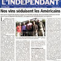 L'Independant Jeudi 15 Septembre 2011