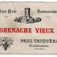 Grenache vieux Paul Triquera