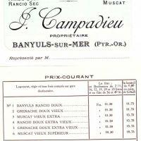 Tarifs anciens de Jules Campadieu